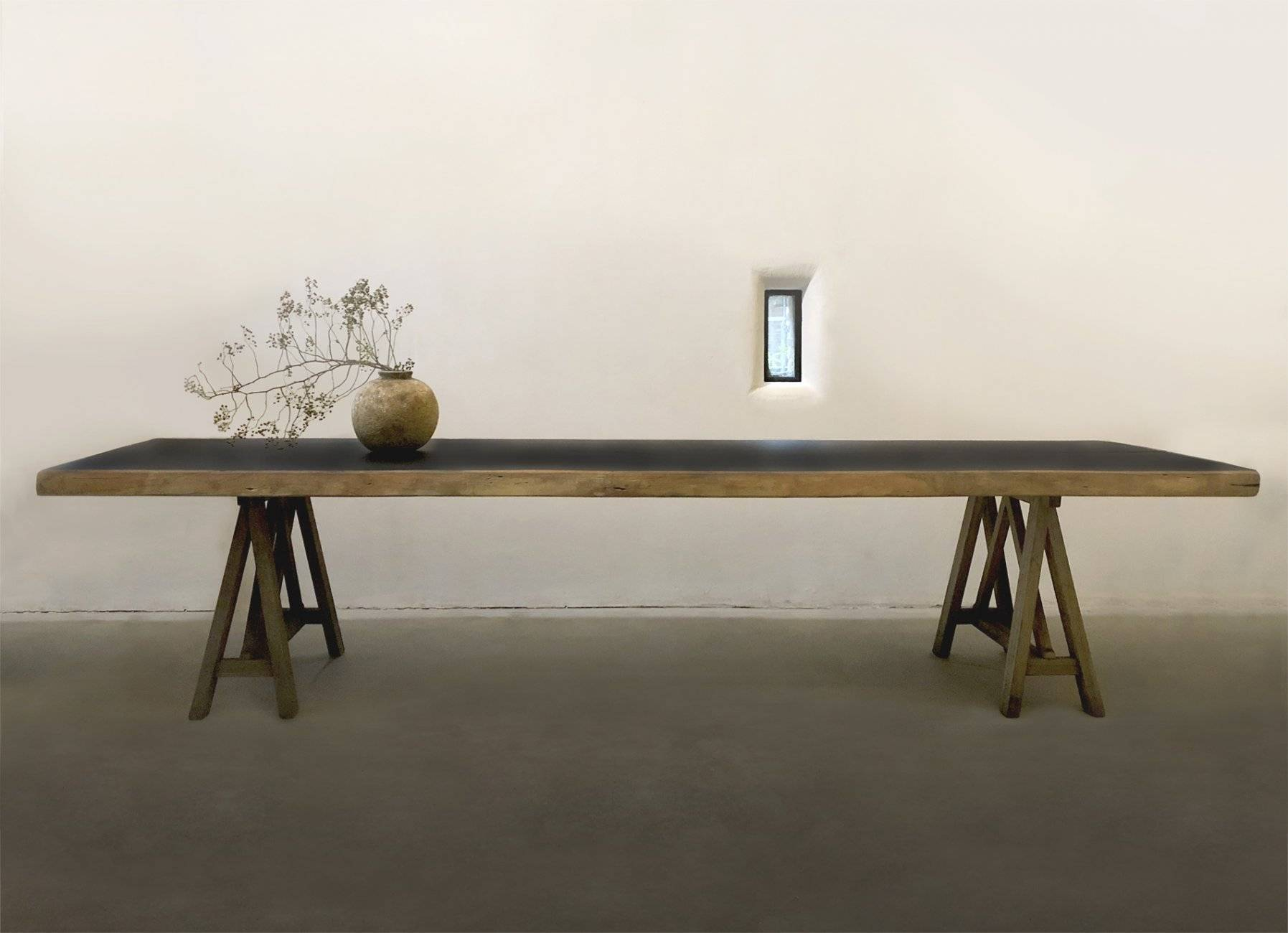 Gitzwarte 'Brandhout' tafel